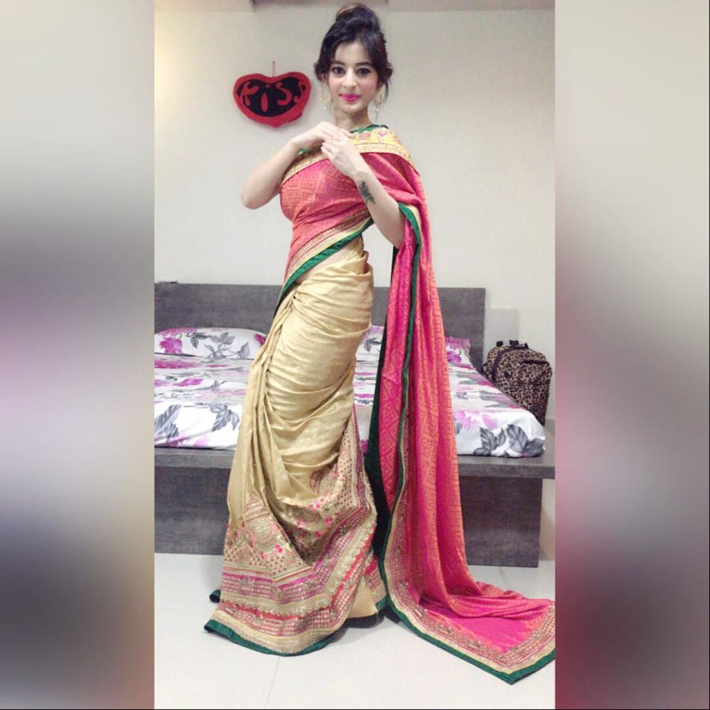Hot Ankita Dave Wearing a Saree
